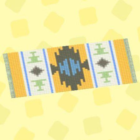 きいろパターンキッチンマット2.jpg